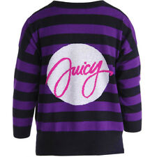NWT JUICY COUTURE Black Label Cashmere Navy Purple Pullover Sweater $378