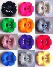 Flower Shaped Buttons - 22mm or 38mm Choice of Colour & Quantity