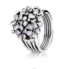 925 Silver Women Fashion Jewelry  Wedding Engagement  Flower Ring Gift Size 6-10