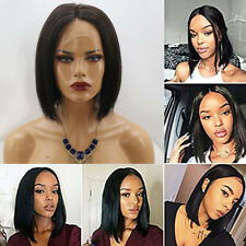 Pre Plucked Brazilian Human Hair Wig Short Bob Lace Front Wig No Tangle Glueless