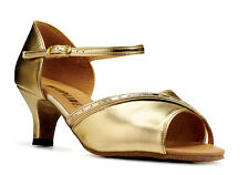 Ladies Gold Or Silver Social Ballroom Dance Shoes By Topline Katz Style ALISON