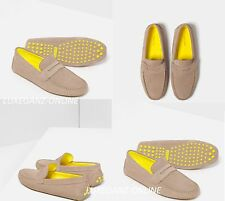 ZARA LEATHER LOAFERS WITH CONTRAST SOLE - Men's Suede Penny Driver Flat Shoes