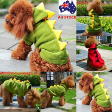 Pet Dog Cat Dragon Dinosaur Jacket Coat Puppy Hooded Apparel Outfits Clothes