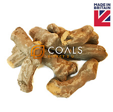 Set of 8 or 16 x Ceramic Fake Wood Logs Gas Fire Replacements - FREE P&P.