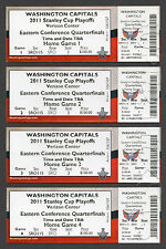 2011 WASHINGTON CAPITALS STANLEY CUP PLAYOFFS Full Unused Ticket Stubs OVECHKIN