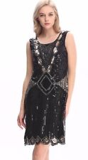 dress gatsby flapper 1920s size beaded vintage fringe sequin s uk 24 14 great 20