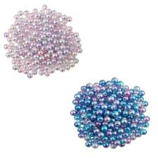 200Pcs New 6mm Colored Imitation Pearl ABS Plastic DIY Loose Bead Findings