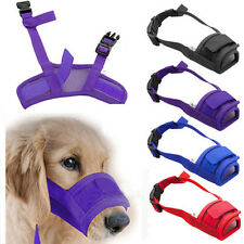 Pet Dog Adjustable Mask Bark Bite Mesh Mouth Muzzle Grooming Anti Stop ChewinEVp