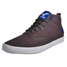 Voi Jeans Fiery Miracle Mens Hi Top Classic Plimsoll Trainers Charcoal
