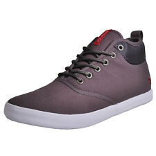 Voi Jeans Fiery Miracle Mens Hi Top Classic Plimsoll Trainers Grey