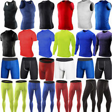 Mens Under Base Layer Tights Compression Shirt Tops Shorts Pants Gym Sportswear