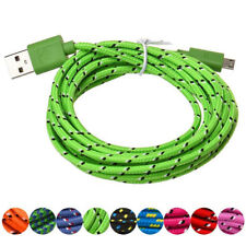 2M Micro USB Charger Sync Data Cable Cord for Cell Phone Lightgreen