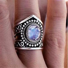 Classy Women 925 Silver Gift Moonstone Wedding Engagement Party Ring Sz6-10