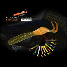 8 pcs Curly Soft Lure 75mm 3.3g Forked Tail fishing bait grubs lure Jig Head