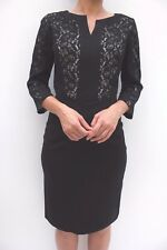 Fenn Wright Manson Black Lace Wiggle Evening Formal Bodycon Dress 12 40 US8 New