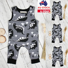Infant Baby Kids Boys Girls Dinosaur Bodysuit Romper Jumpsuit Clothes Outfits