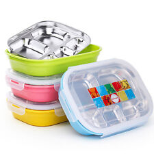 Stainless Steel Lunch Box w/ Compartment Bento Lunchbox Food Container Lunch Bag