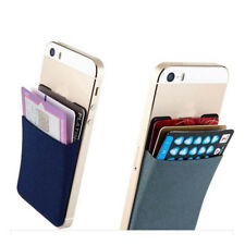 1 Pcs Elastic Lycra Cell Phone Wallet Credit Card Stick On Adhesive
