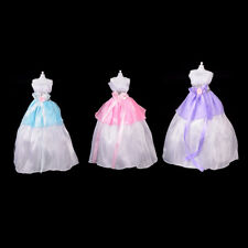 Wedding Party Mini Gown Handmade Dress Fashion Clothes For Barbie Doll 3 Colors-