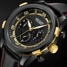 MEGIR Chronograph Sport Mens Watch Luxury Creative Quartz Military Wristwatch