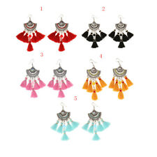 Fashion Vintage Tassel Earrings Rhinestone Dangle Drop Chandelier Earrings