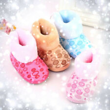 Baby Infant Child Boys Girls Warm Snow Boots Fur Winter Toddler Crib Shoes 6-12M