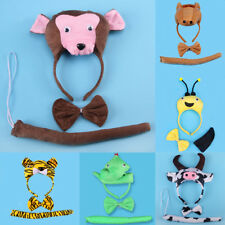 MagiDeal Animal Headband Tail Bowtie Children Fancy Dress Costume Party Cosplay