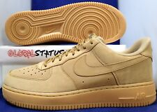 """NIKE AF1 AIR FORCE 1 LOW 07 WB """"FLAX"""" GUM LIGHT BROWN SHOES AA4061 200 SIZE 12"""