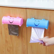 Kitchen Wall Self Sticky Smile Face Garbage Bag Receiving Box Container Deluxe