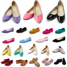 Women Ballerina Ballet Dolly Pump Flats Loafers Slip On Boat Shoes Casual Shoe