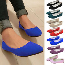 Womens Boat Shoes Ballerina Ballet Slip On Flat Loafers Casual Single Deck Shoes