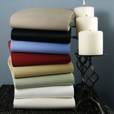 100% New Egyptian Cotton 1000 TC Fitted/Flat/Duvet/Pillow All Size Solid Colors