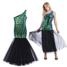 Dark Green Long Formal Evening Sequins Dress Mermaid Weeding Party Prom Gown