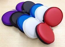 Earphone Storage Bag Carrying Case Pouch Box Portable Mini Headset Round Small