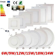 Dimmable Recessed LED Panel Light 9W 12W 15W 18W 24W Ceiling Down Lights Bulbs Y