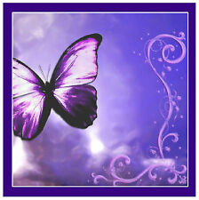 PURPLE BUTTERFLY - NOVELTY SOUVENIR FUN COASTERS - EASY CLEAN - GIFTS - NEW