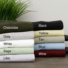 1000TC 100%Egyptian Cotton Bedding Item Extra Deep Pocket Solid Color Full XL