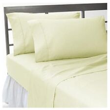 1000TC New Egyptian Cotton UK Sizes Bedding Items Ivory Solid/Stripe