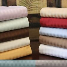 1000 TC Egyptian Cotton Bedding Item Extra Deep Pocket New Stripe Color Cal-King