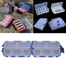 Fishing Fish Hook Bait Lure Box Tackle Storage Container Case 10 Compartments
