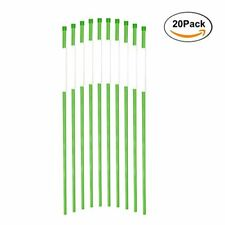 FiberMarker Driveway Markers 36-Inch Green 20-Pack 1/4-Inch Dia Solid Snow Poles