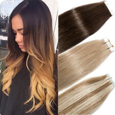 """16""""-22"""" Long Skin Weft Tape In Remy Real Human Hair Extensions 40 pcs 100g! I827"""