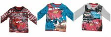 Boys Disney Pixar Cars T Shirt Long Sleeve Top Tee Lightning McQueen Age 2-8 New