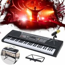 Music Electronic 54 61 Key Keyboard Electric Piano Organ w/ 3 Lesson Stand Type