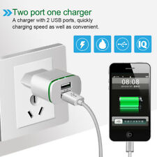 5V 2.1A USB 2 Ports Fast Charging LED Light Charger Adapter Travel Wall Charger