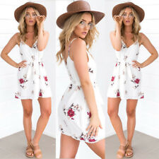 Women Fashion Boho Sleeveless Party Evening Cocktail Beach Summer Short Dress