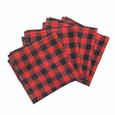Buffalo Check Red Buffalo Check Plaid Cotton Dinner Napkins by Roostery Set of 4