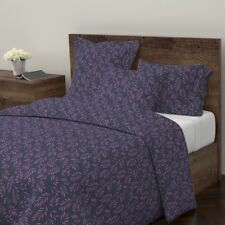 Willow Indigo Orchid Indigo Tropical Cotton Duvet Cover by Roostery
