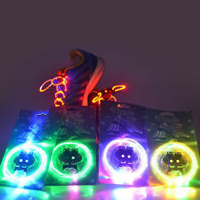 Multicolor LED Light Up Flash Shoestring Shoelaces Party Disco Glow Stick String