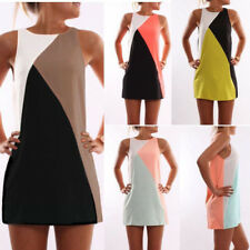 Fashion Women Summer Evening Party Cocktail Sleeveless Casual Short Mini Dress